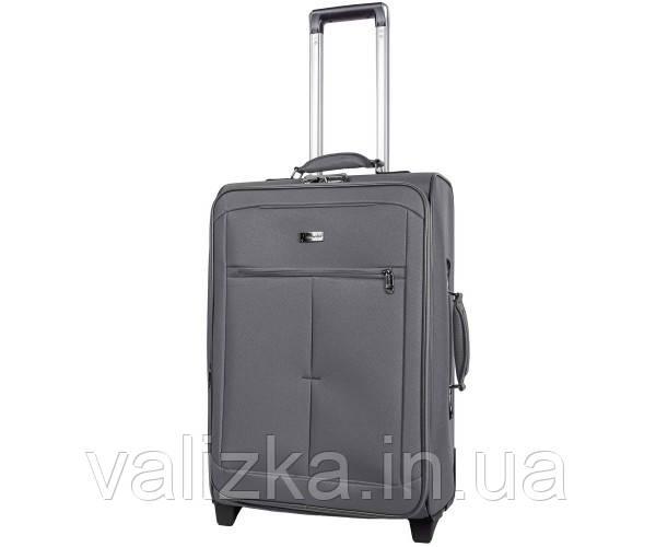 Текстильный чемодан средний Golden Horse 2023 на колесах серый
