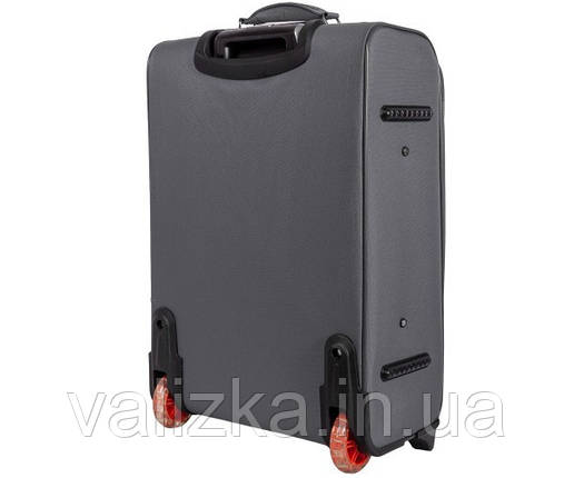 Текстильный чемодан средний Golden Horse 2023 на колесах серый, фото 2