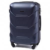 Дорожный средний чемодан Wings 147 на 4х колесах синий