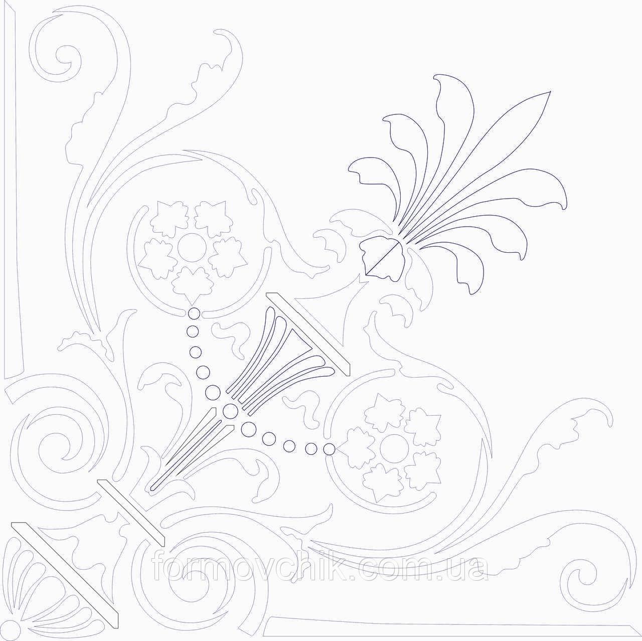 Трафарет Илюстрация 30*30 см толщина 1мм