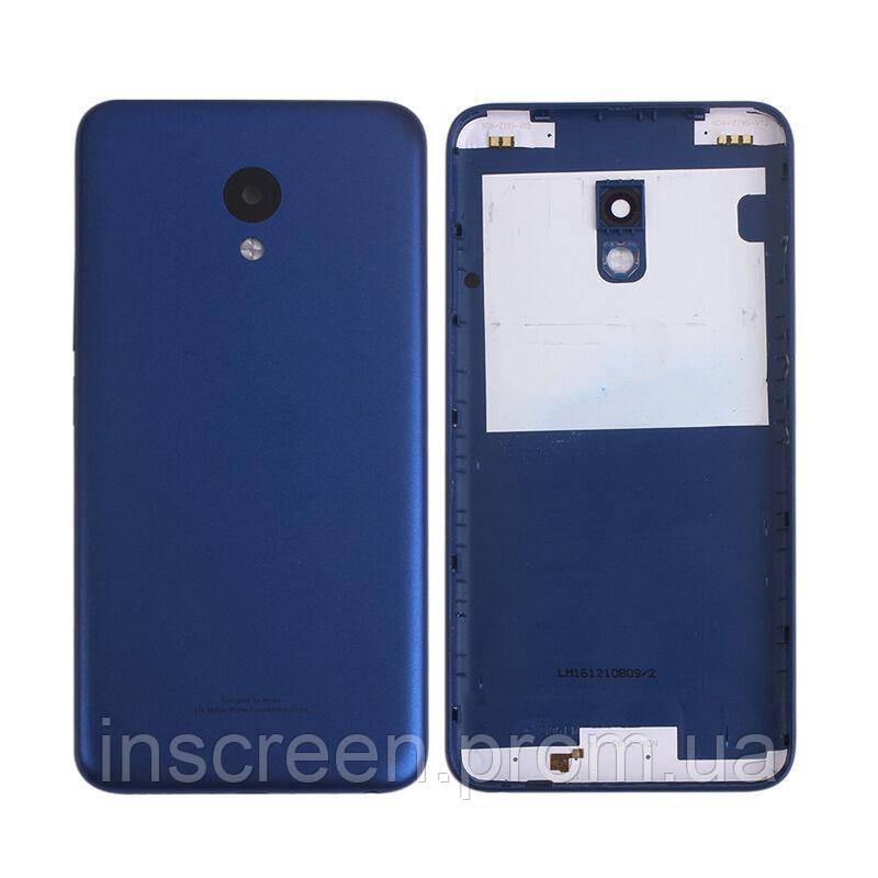 Задняя крышка Meizu M5 M611, M5 mini синяя Оригинал Китай