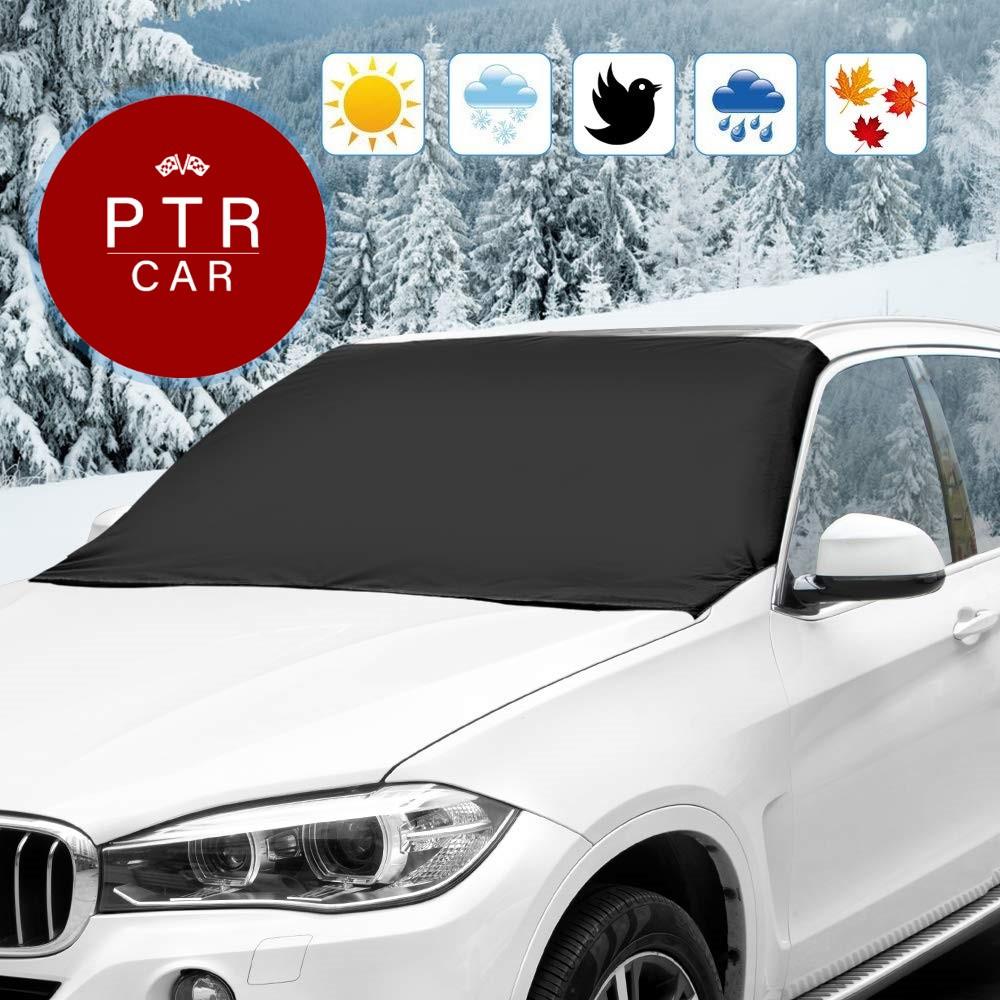 Зимний защитный чехол на лобовое стекло материал флизелин PTR-CAR