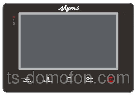 Видеодомофон Myers M-72SD Black