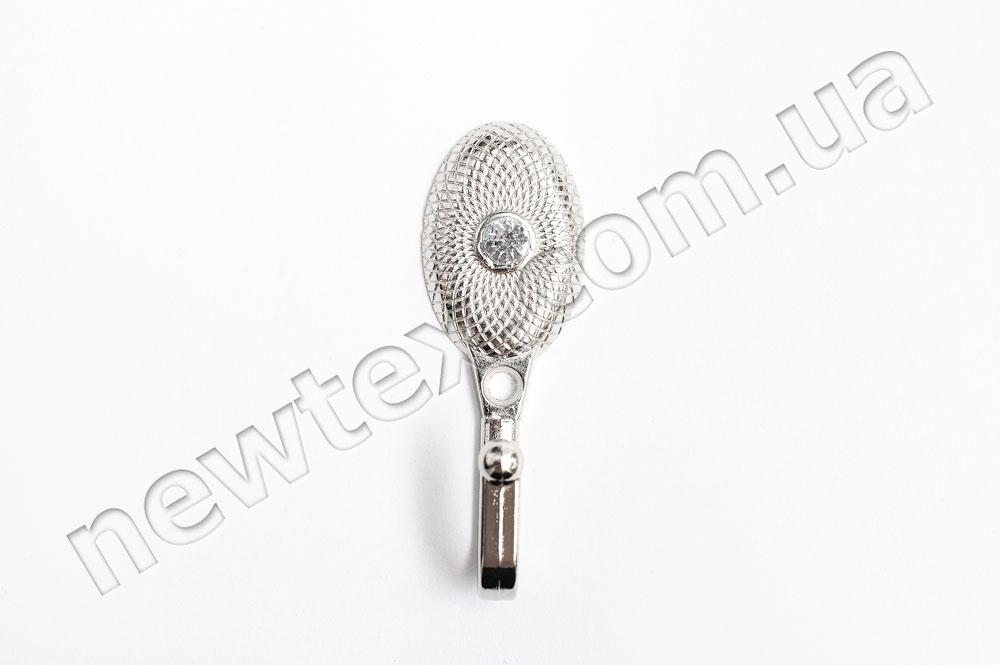 Держатель (подхват) для штор R200 Серебро