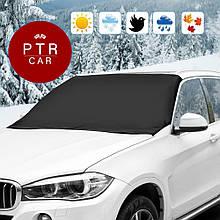 Зимний защитный чехол на лобовое стекло защита от инея материал флизелин PTR-CAR