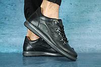 Мужские туфли кожаные Clarks,черные
