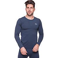 Термобелье мужское футболка с длинным рукавом (лонгслив) Under Armour -BL размер M-XXL (44-52) синий PZ-CO-8151