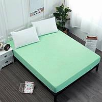 Простынь на резинке зеленая (160х200х20)ST-1003