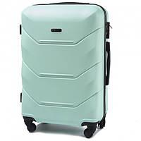 Дорожный средний чемодан Wings 147 на 4х колесах мята