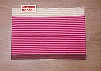 Наволочка ранфорс 50х70 - Бордові полоски, фото 1