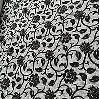 Рогожка на флоке мебельная ткань ширина ткани 150 см сублимация 3020-серый, фото 1