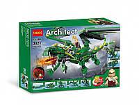 """Конструктор Decool 3121 Architect (аналог Lego Creator) """"Зеленый дракон 3 в 1"""" 598 деталей"""