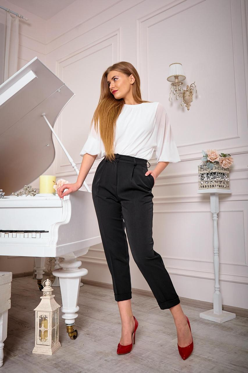 Стильні чорні брюки (Код BR-446)