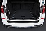 Пластиковая защитная накладка на задний бампер для BMW X3 F25 2010-2014, фото 2