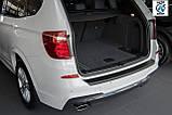 Пластиковая защитная накладка на задний бампер для BMW X3 F25 2010-2014, фото 5
