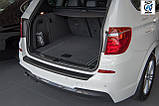 Пластиковая защитная накладка на задний бампер для BMW X3 F25 2010-2014, фото 7