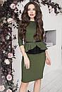 """Красивий жіночий костюм з спідницею великих розмірів """"Дельфіна"""" - 52, 54, 56, 58, 60 в кольорах, фото 4"""
