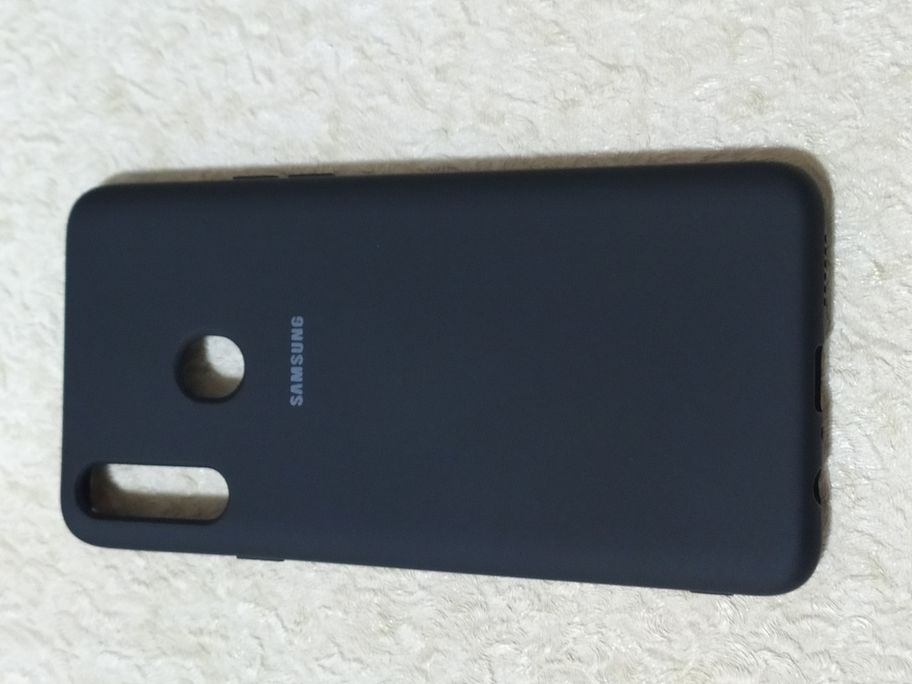 Накладка   Silicon Cover full   для  Samsung A20s    (черный)