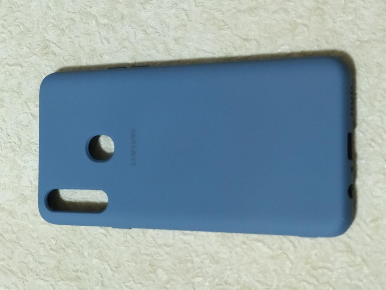 Накладка Silicon Cover full для Samsung A20s (сірий)