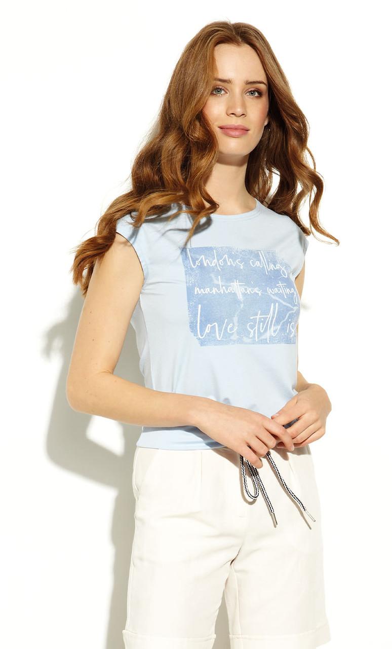 Блуза Helka Zaps голубого цвета. Коллекция весна-лето 2020