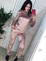 Велюровый костюм с жемчугом, фото 1