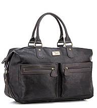 Дорожная сумка из экокожи David Jones  CM3553 серая для ручной клади, фото 2