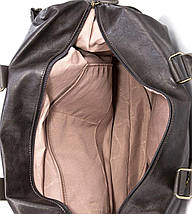 Дорожная сумка из экокожи David Jones  CM3553 серая для ручной клади, фото 3