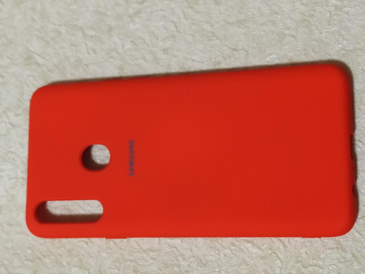 Накладка   Silicon Cover full   для  Samsung A20s    (красный)