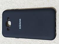 Накладка   Silicon Cover full   для  Samsung J7 / J700 /  J7  2015  (черный)