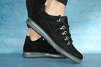 Мужские туфли замшевые Clarks,черные