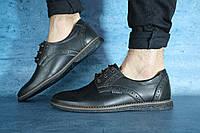 Мужские туфли ZunGak кожаные,черные с коричневым