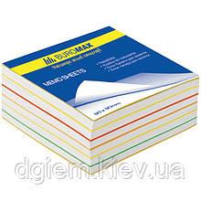 Блок бумаги для записей РАДУГА 80х80х30мм, не склеенный