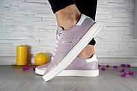 Женские кожаные кроссовкиAdidas Stan Smith,розовые