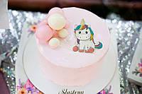 Торт с Единорогом  - торт для девочки без мастики