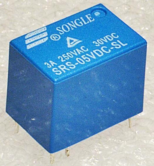 Реле постоянного тока SRS-05VDC-SL (4100) 5V 3A 250VAC. Реле электромеханическое +5В/3А