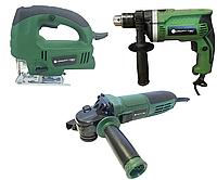 Набор электроинструмента Craft-tec 3в1: Болгарка, Дрель, Лобзик.