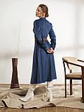 Однотонное вельветовое платье-миди с воротником стойкой, фото 3