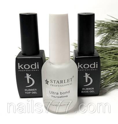База Kodi 8 мл +Топ Kodi 8 мл + Ультрабонд Starlet кислотный 15 мл, набор, фото 2