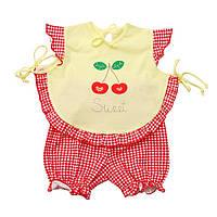 Детский комплект  для девочки  летний Ягодка 68 см