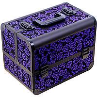 Чемодан металлический для мастеров, фиолетовый