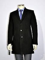 Полупальто зимнее мужское №63з кашемир черный, фото 1