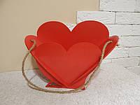 Деревянная корзина-кашпо в форме сердца, декоративный ящик для цветов