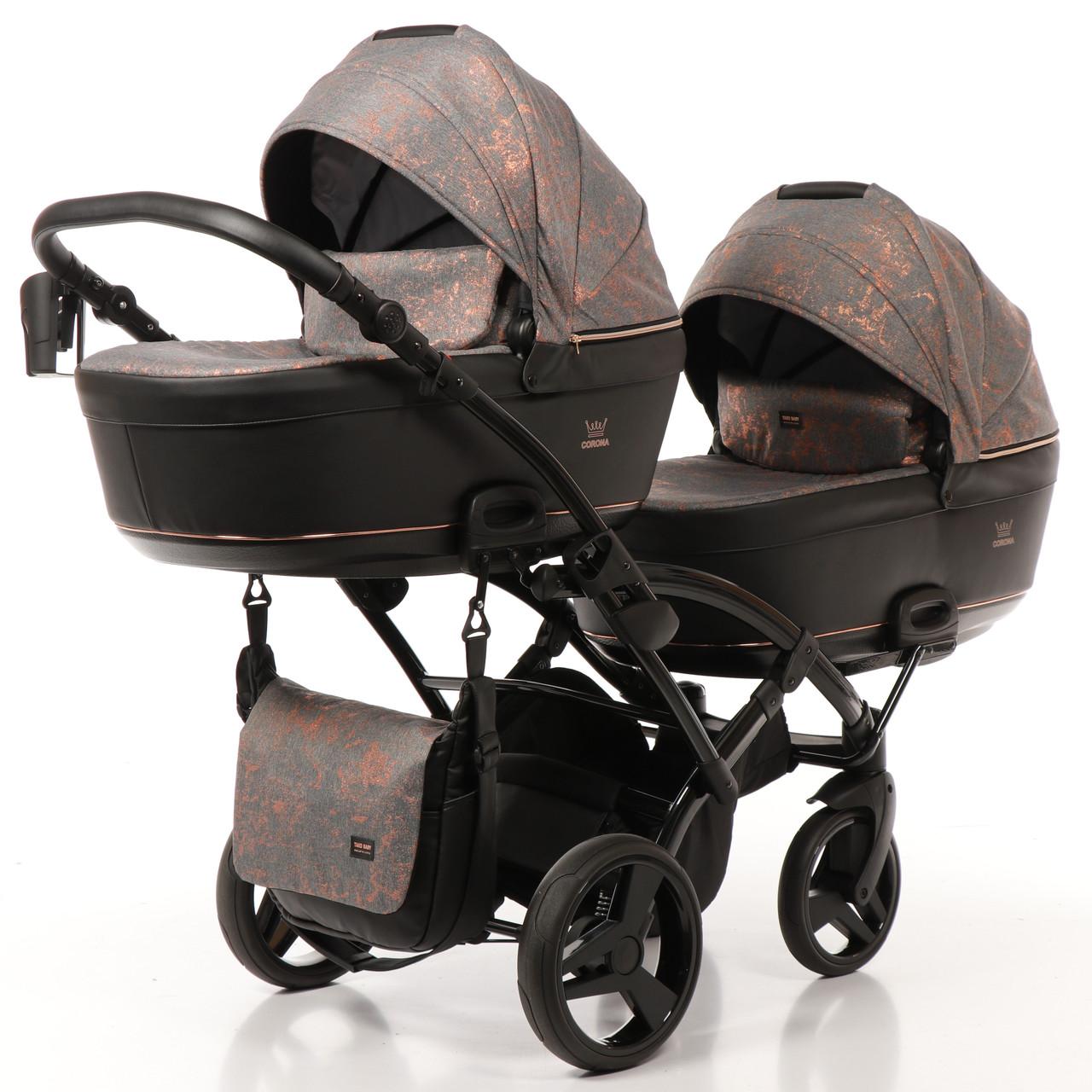 Дитяча коляска для двійні Tako Corona Duo Slim 01