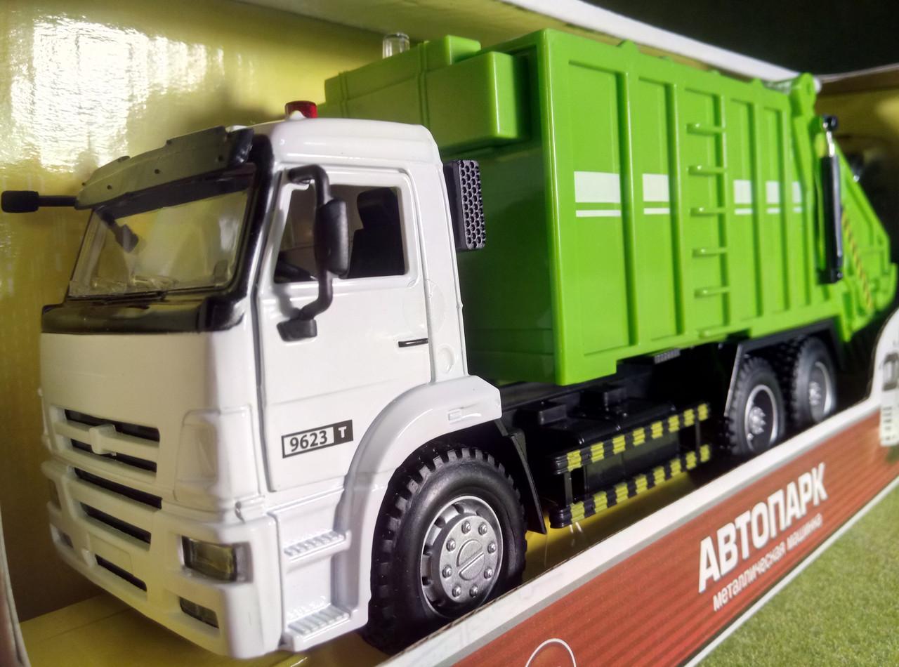 Зеленый мусоровоз Автопарк, интерактивная игрушка