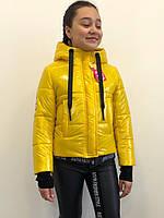Детская куртка монклер «Asyia желтый лак