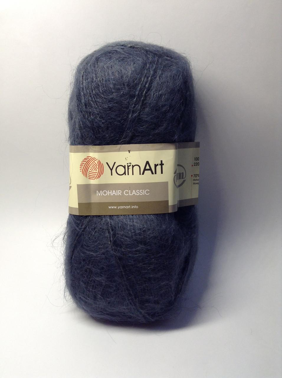 Пряжа Mohair classic YarnArt (70% -  80% мохера)