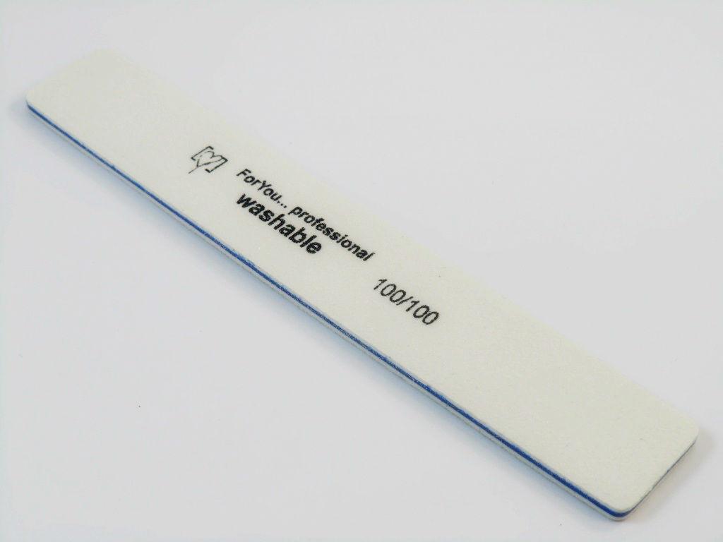Пилка For you для ногтей 80/80 широкая белая