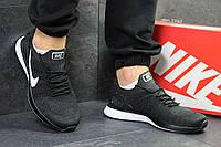 Мужские кроссовки Nike,летние,сетка,темно серые с белым
