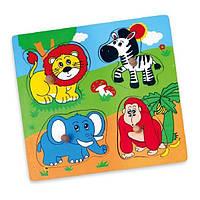 "Пазл Viga Toys ""Дикі тварини"" (59563)"