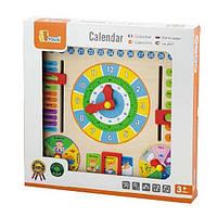 """Іграшка Viga Toys """"Годинник і календар""""(59872)"""